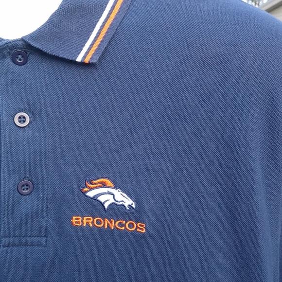 NFL Denver Broncos Mens LG Team Polo